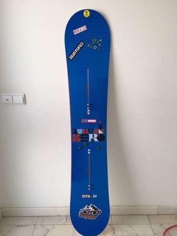 Prancha Snowboard Burton Hero 158 + Fixações Burton Mission