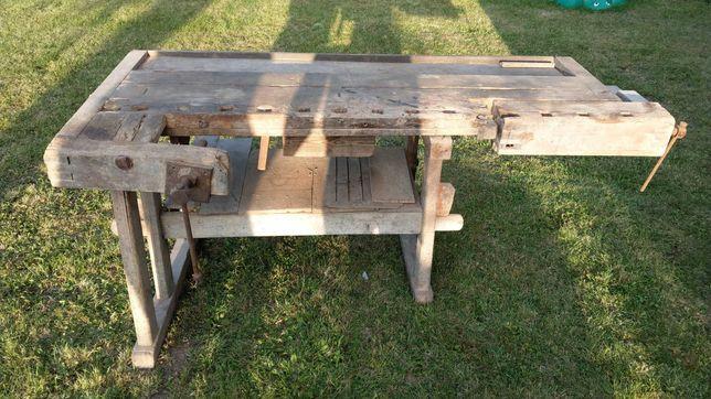 Stół stolarski antyk
