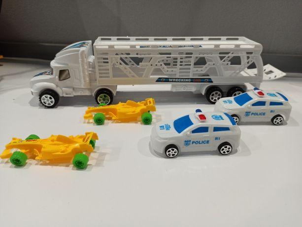 Набор детских машин, грузовик, полиция, формула