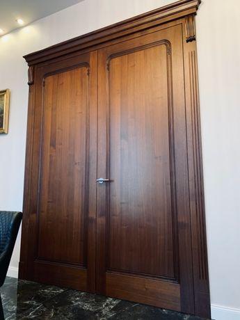 Ekskluzywne drzwi wewnętrzne dwuskrzydłowe z koroną, wys 270, 2x90