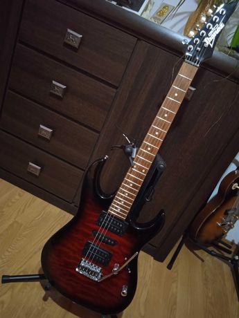 Gitara elektryczna IBANEZ GRX 70 QA TRB Transparent Red Burst