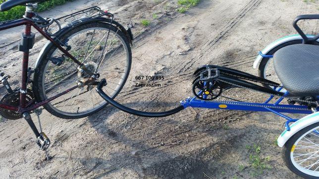Przyczepka do roweru z napędem