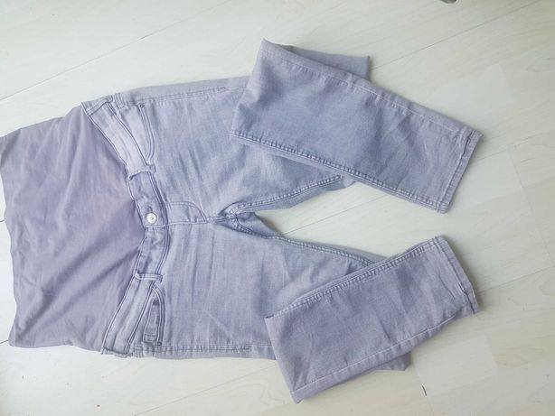 H&m mama jeansy skinny szare r. 40