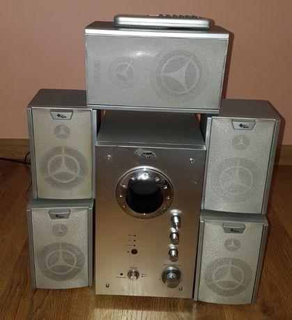 Manta głośniki 5.1 MM-2500 Crystal [AUX, Radio, Pilot]