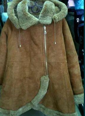 Дубленка с капюшоном натуральная цигейка Длина 62см, ПОГ 43см Запорожье - изображение 1