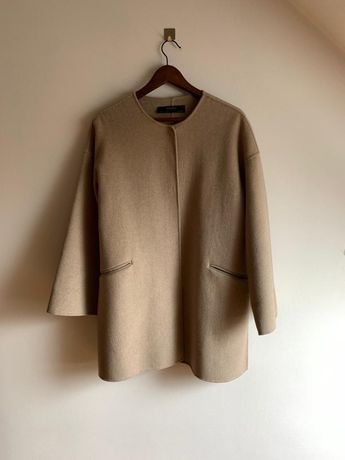 Zara płaszcz wełna handmade XS/S/M