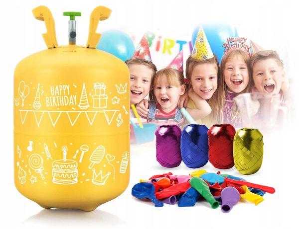 BUTLA Z HELEM Balony x50 Wstążka 60m HEL do balonów z reduktorem 0,4m3