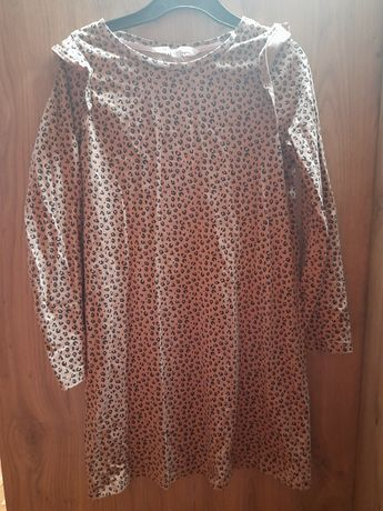 Sukienka panterka H&M 122/128cm