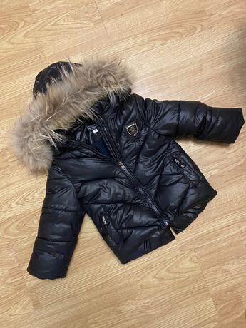 Зимняя Куртка детская стильная черная