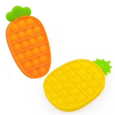 Push Pop Bubble zabawki sensoryczne Ananas i Marchew