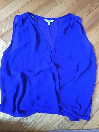 Шифоновая синяя блузка New Look