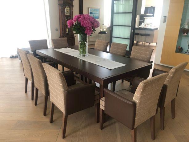 Стол обеденный со стульями комплект Италия