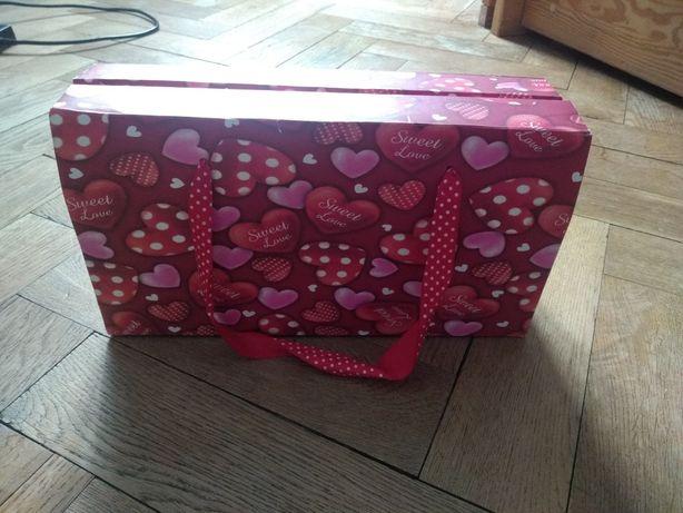 Pudełko serce na prezent ślub walentynki