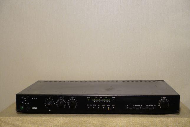 Музыкальный транзисторный HI-FI усилитель BRAUN A-501 (2х105Вт/8,5кг)