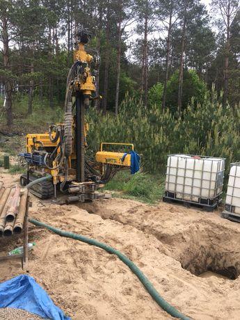 Wiercenie studni głębinowych, odwierty pod pompy ciepła, roboty ziemne