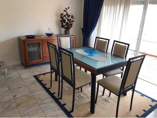Mesa de Jantar Extensível + 6 Cadeiras - Sala ou Cozinha