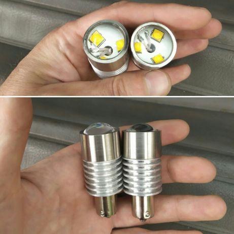 Самая яркая LED на задний ход 15w 2200 лм (p21w ba15s 1156) lanos aveo