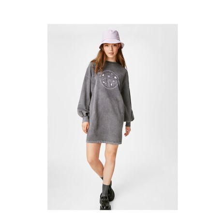 платье из плотного трикотажа,хлопка кунда,С&А,обьемными рукавами,L-XL