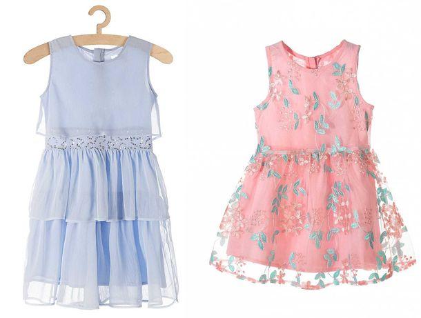 Dwie sukienki Max i Mia roz. 110 stan bdb wesele, komunia