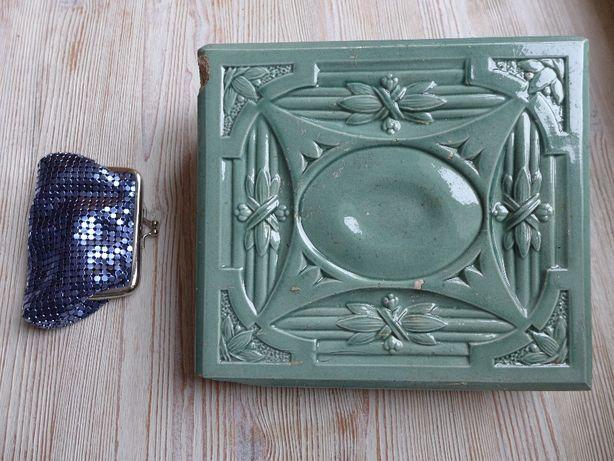 [G15] Kolekcjonerski stary kafel piecowy 1900r. oryginał ART DECO XIXw