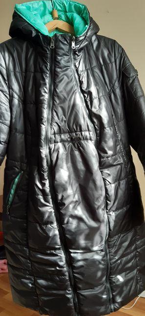Двустороннее пальто для беременных.