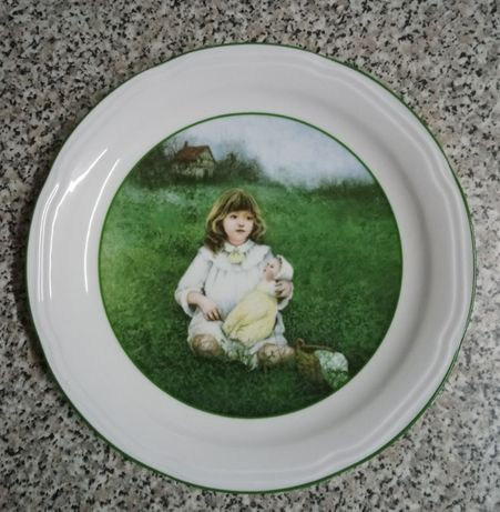 Prato em porcelana de Ana Muñoz 1984