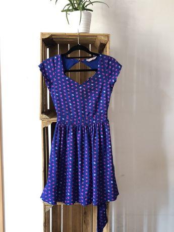 Efektywna wiązana sukienka w całuski Awear