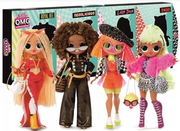 ЛОЛ набор 4 куклы LOL Surprise OMG Swag Diva Royal Bee 422020