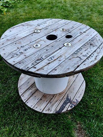 Stolik ogrodowy szpula