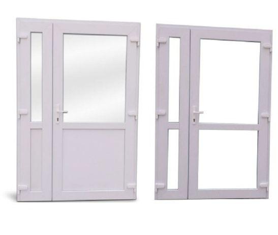 Drzwi zewnętrzne PCV dwuskrzydłowe 140x210 białe TRANSPORT CAŁA POLSKA