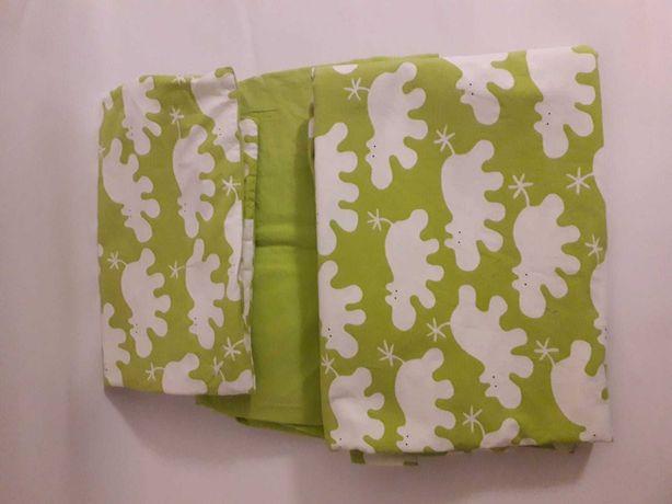 Pościel IKEA hipopotam zielona stan idealny poszewki + prześcieradło