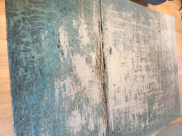 Dywan Abstract kare design niebieski