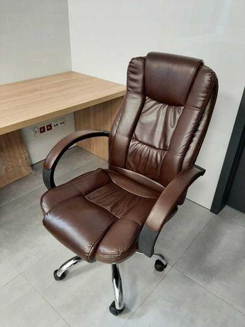 Fotel biurowy ciemny-brąz