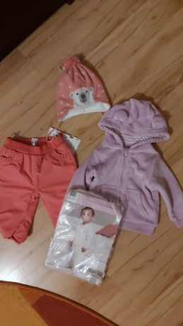 Продам набором, кофта, штаники, шапка, человечек на малышку