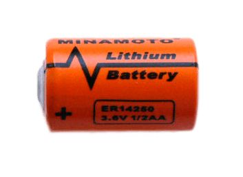 Литиевая батарейка 3,6 вольт MINAMOTO ER-14250 размер 1/2 AA
