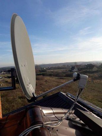 ustawianie anten montaż