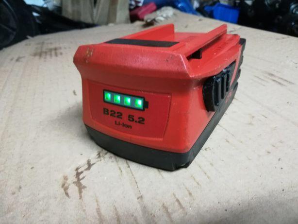 Bateria akumulator Hilti B22 5.2 AH CPC LI-ION SIW ag 125 te4 2019r