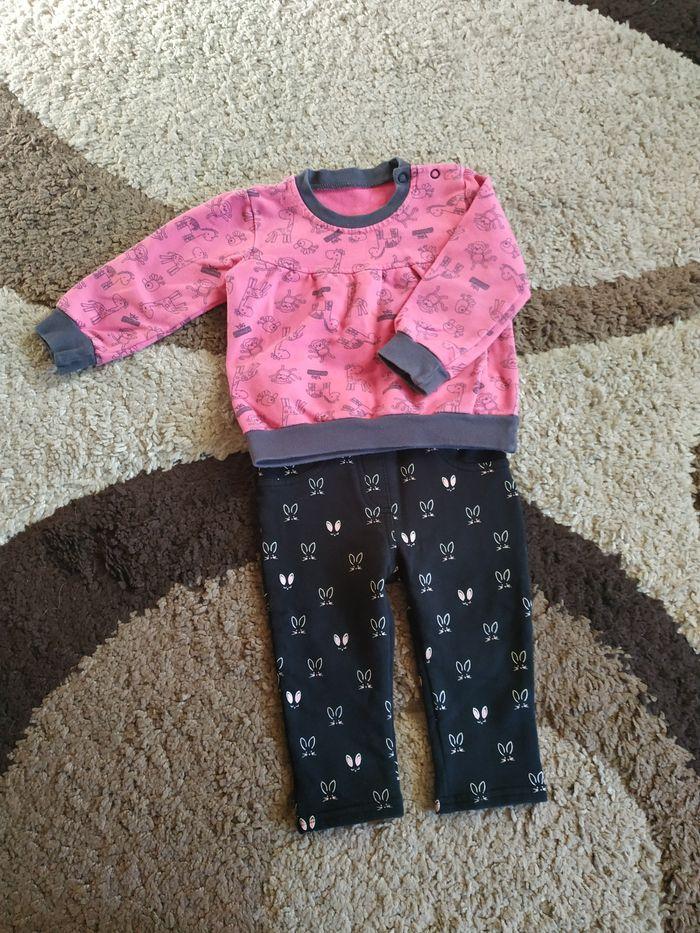 Bluza + spodnie dla dziewczynki na 12 miesięcy Elbląg - image 1