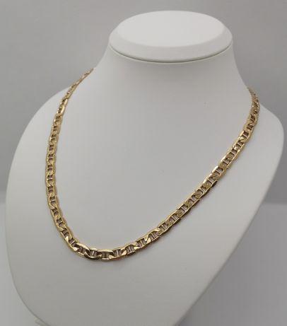 Piękny złoty łańcuch. GUCCI. NOWY. PR. 585/14K. Dł. 55,5cm