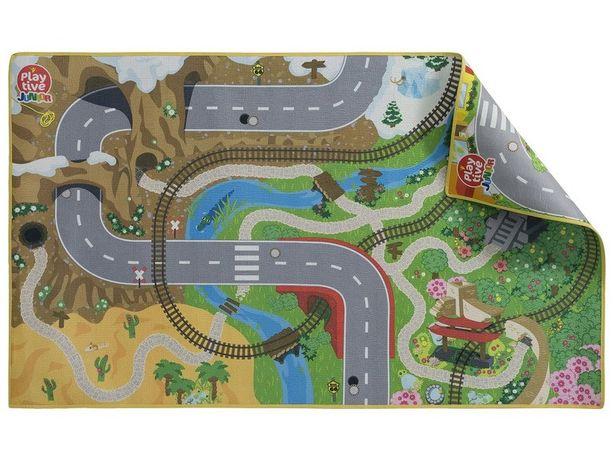 Коврик игровой двусторонний для железной дороги Playtive, ИКЕА 150*90