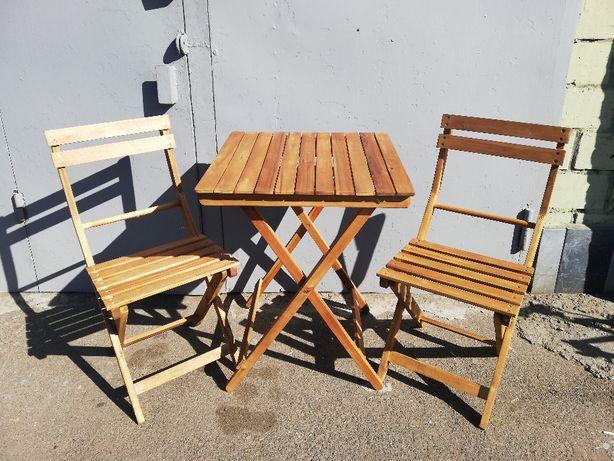 Комплект столик + 2стульчика разборные для дачи