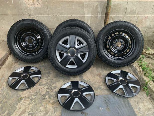 Диски R15 Kia,Hyundai,Mazda 5/114.3 dia 67.1 с зимней резиной Hankook