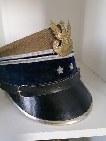 Czapka rogatywka WP II RP żołnierz polski nie szabla bagnet hełm