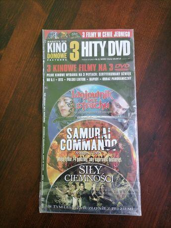 Trzy fimy DVD...