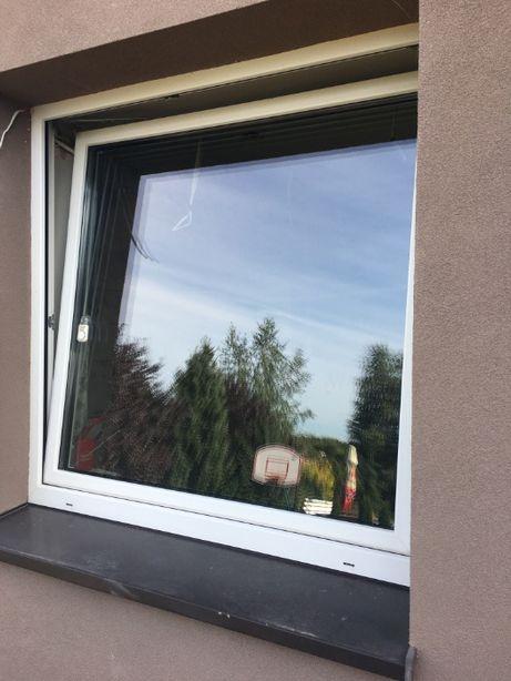 okno plastikowe trzy szybowe białe 145,5/143
