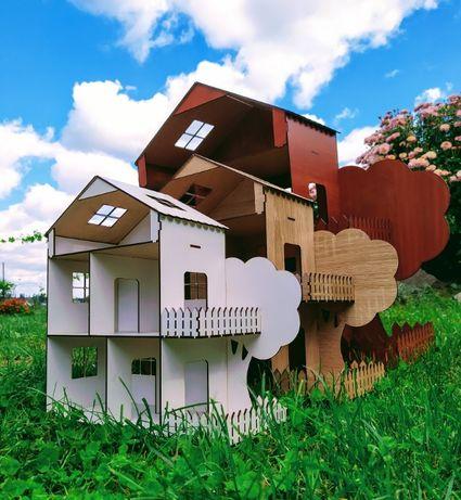 Кукольный домик с мебелью. Ляльковий будиночок, різні варіанти.