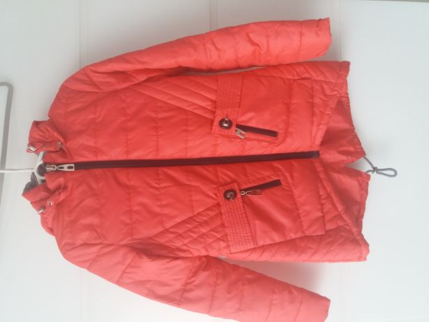 Płaszcz różowy S