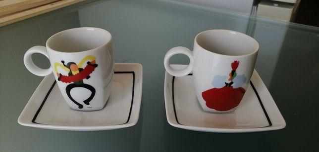 Vendo conjunto de duas chávenas de café da Vista Alegre