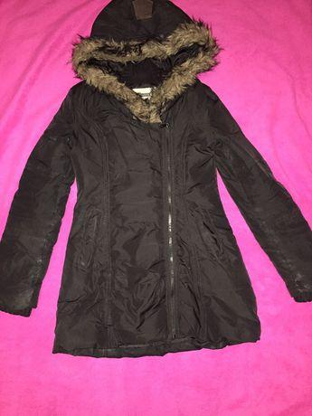Пуховик зима Stradivarius зимнее пальто куртка