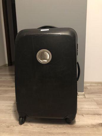 Duża walizka Delsey czarna bardzo twarda